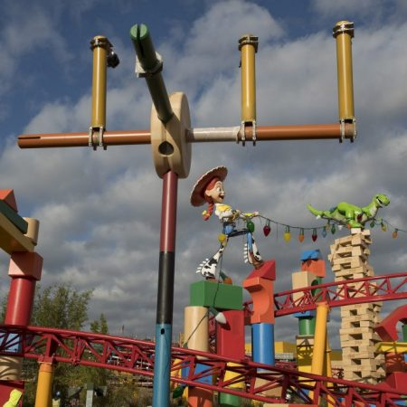 Development continues on Toy Story Land, which will open June 30 at Walt Disney World Resort in Florida. Located at Disney's Hollywood Studios, this new 11-acre land will invite guests to play in the setting of Andy's backyard.