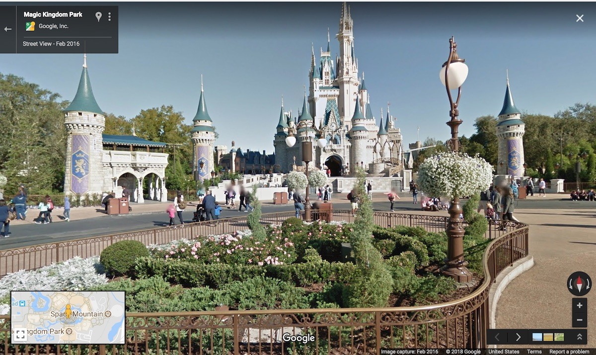 Google Is Now Offering Street View Maps To Disney Parks.