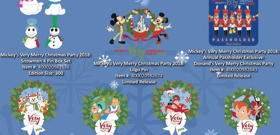 Mickey Christmas Party.Mickey S Very Merry Christmas Pins For 2018 Unveiled