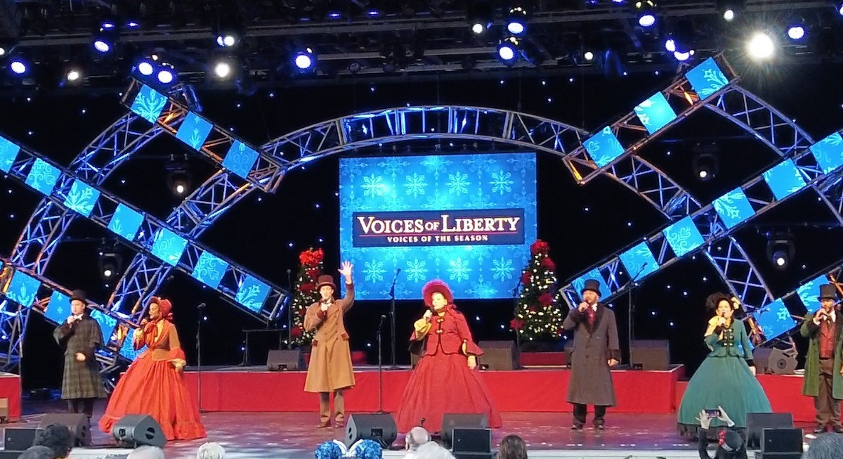 Video: Voices of Liberty sing holiday songs during festival of holidays