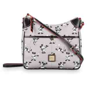 Mickey & Minnie Retro Gray Crossbody