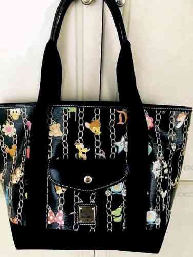Black Charms Pocket Tote