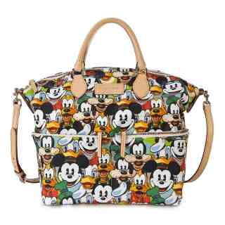 Fab 5 Faces Zip Satchel