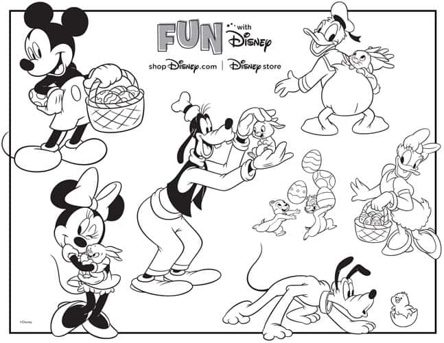 Disney Dooney and Bourke FREE Printable Disney Easter Egg