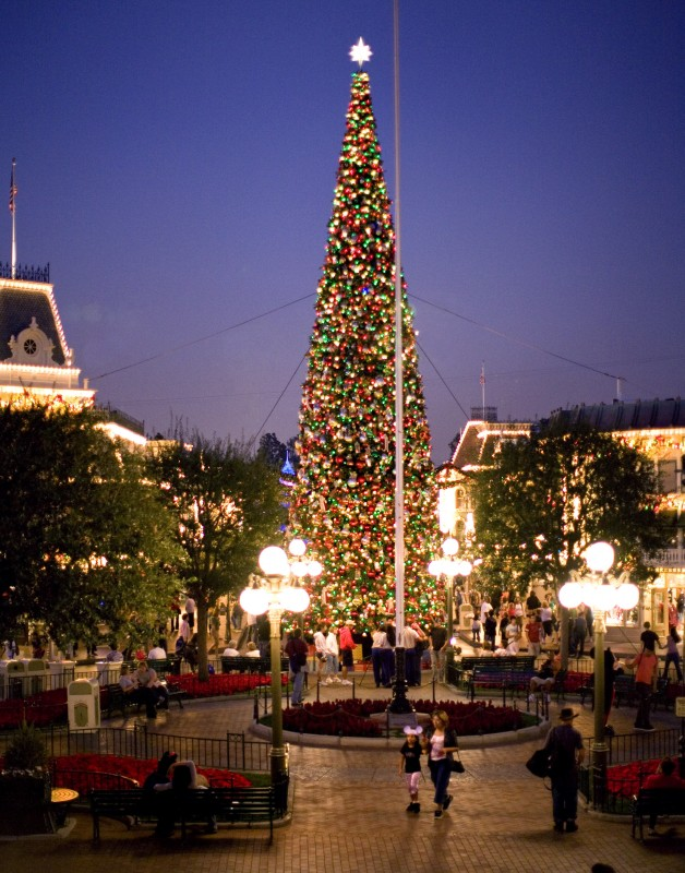 Photo Of A Famous New Orleans Square Courtyard At Disneyland Park Sporting Its Christmastime Decor