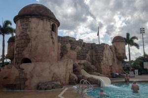 disney pool slide, Caribbean Beach pool