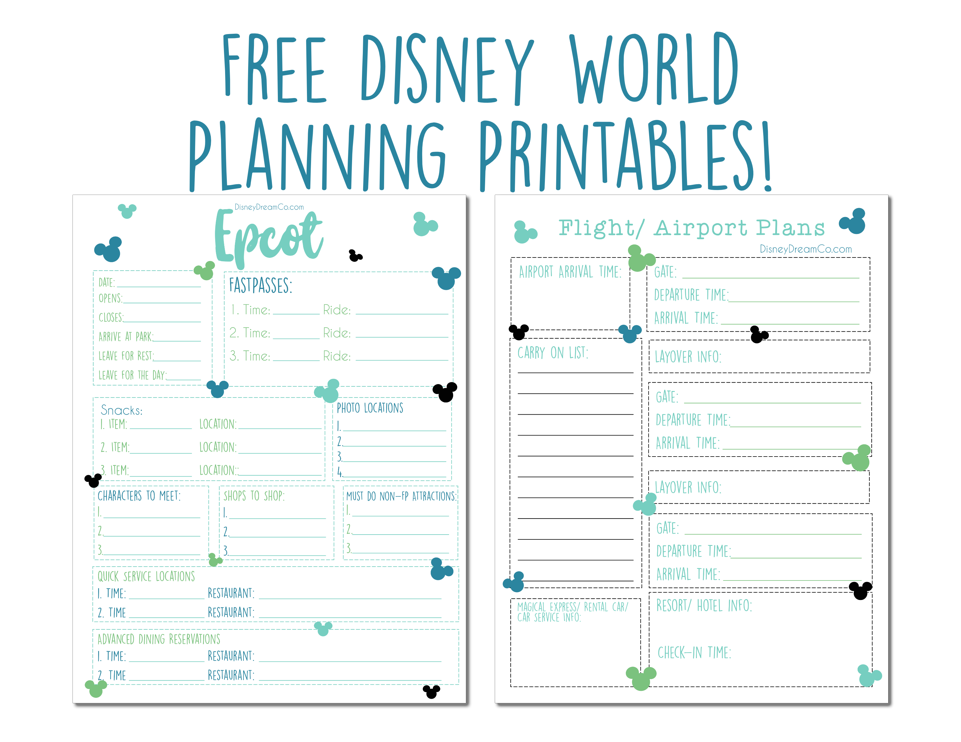 photo relating to Trip Planner Printable identified as Disney World wide Absolutely free Coming up with Printables - Disney Desire Co