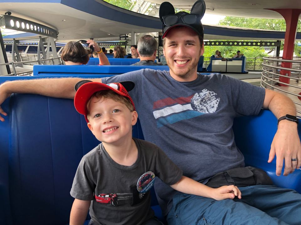 Tomorrowland People Mover in Magic Kingdom, Magic Kingdom for Toddlers and Babies