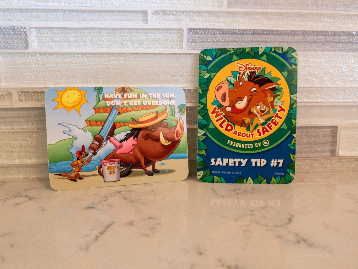 saftey cards, free disney