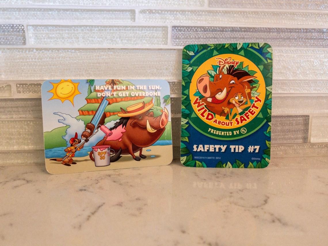 saftey cards, free disney