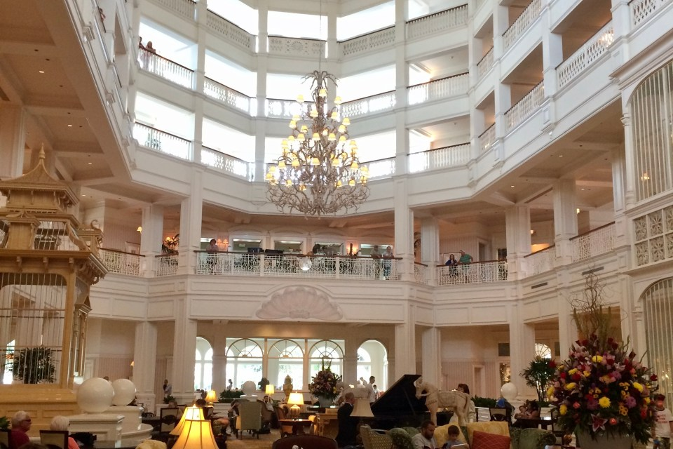 Grand Floridian Lobby - top 5 WDW lobby