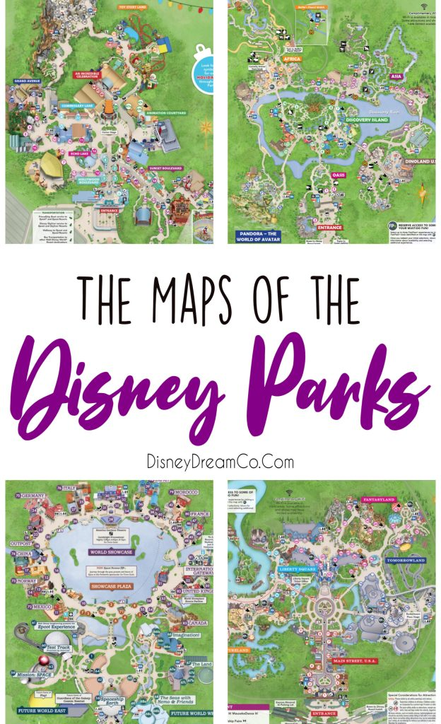 Disney Park Maps