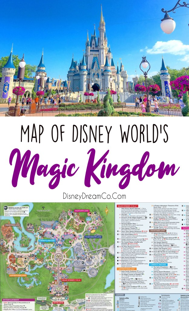 Magic Kingdom Map Walt Disney World