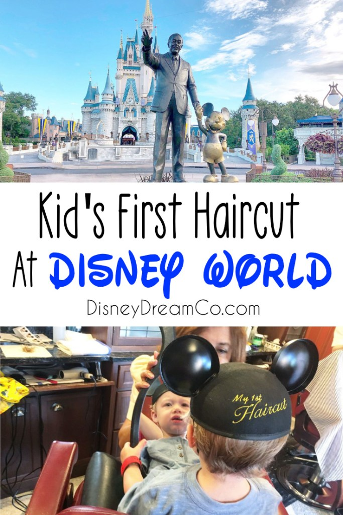 kid's first haircut at Disney