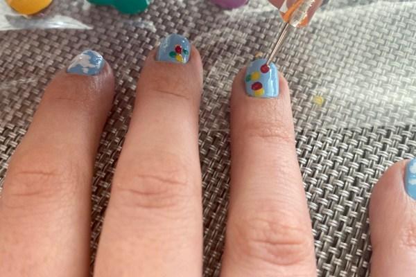 Nail Art - Balloons