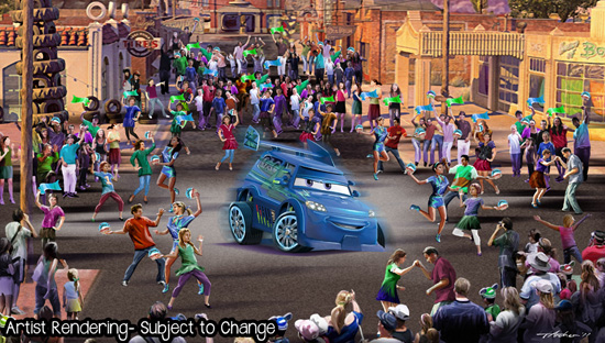 Cars Land Parade Concept Art 2