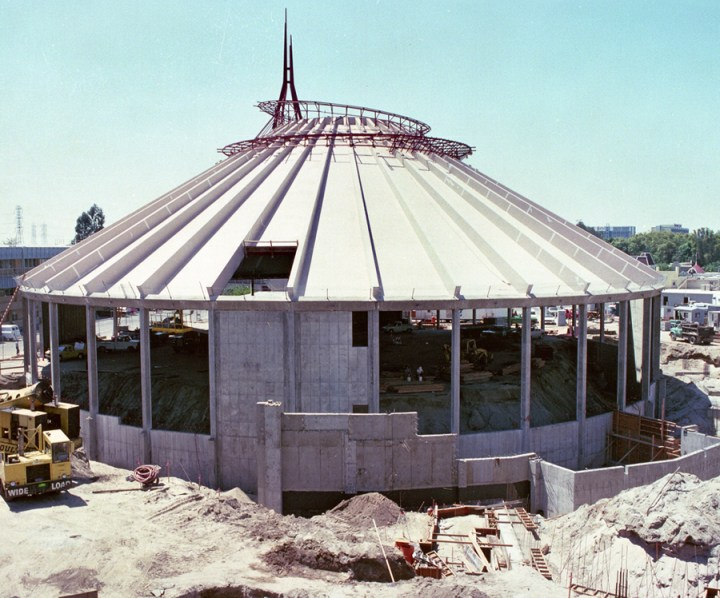 Space Mountain Disneyland Construction