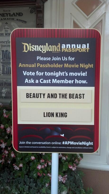 Disneyland Annual Passholder Movie Nights