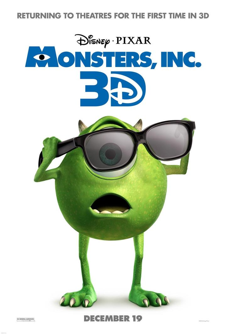 Monsters Inc 3d Announcement