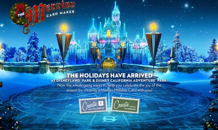 Disneyland Holidays Website