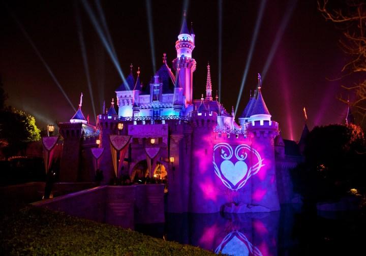 Sleeping Beauty Castle Valentines Day True Love Week Disneyland