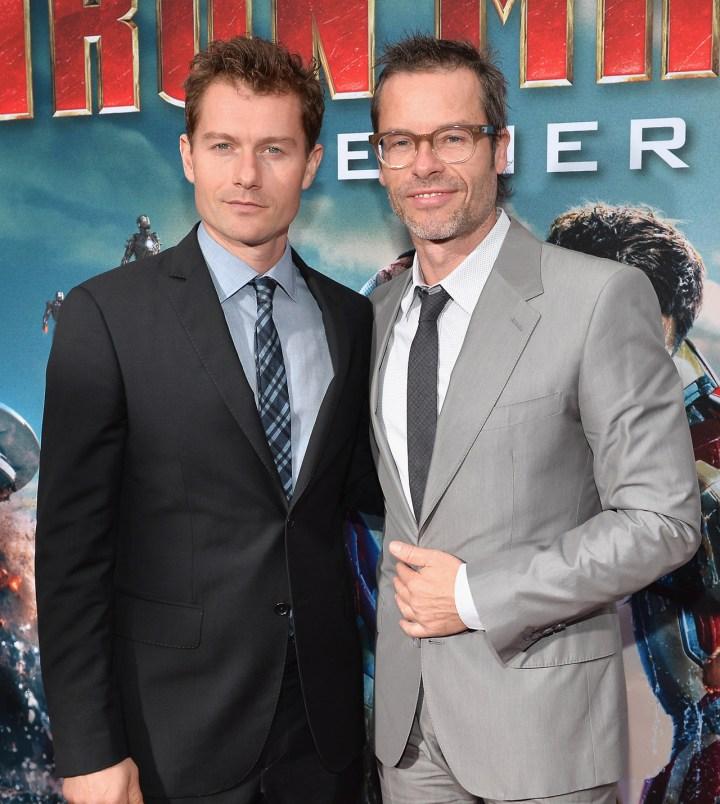 Guy Pearce James Badge Dale Iron Man 3 Premiere
