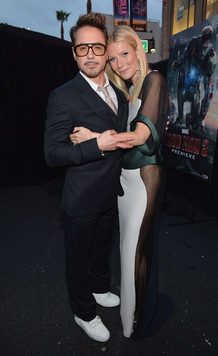 Robert Downey Jr Gywenth Paltrow Iron Man 3 World Premiere