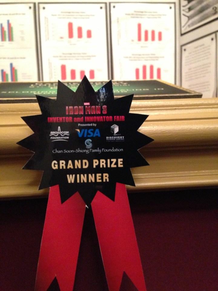 Grand Prize Ribbon Iron Man 3 Innovator And Inventor Fair