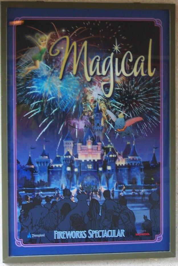 Magical Fireworks Spectacular Disneyland Poster