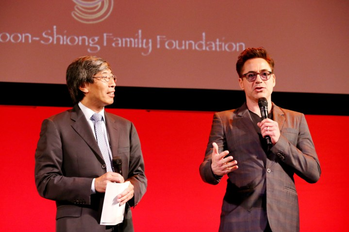 Patrick Soon Shiong Robert Downey Jr Iron Man 3 Innovator And Inventor Fair
