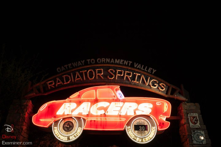 Disney California Adventure Grand Reopening Disneyexaminer Coverage Day 1 Entry Radiator Springs Racers Sign