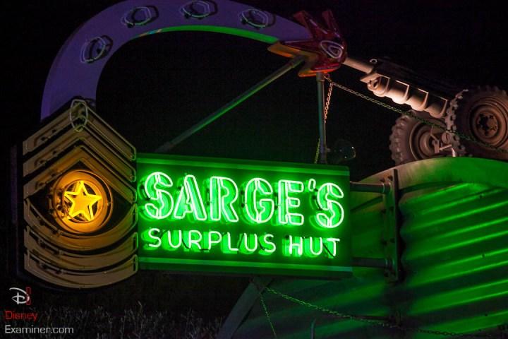 Disney California Adventure Grand Reopening Disneyexaminer Coverage Day 1 Entry Sarges Surplus Hut