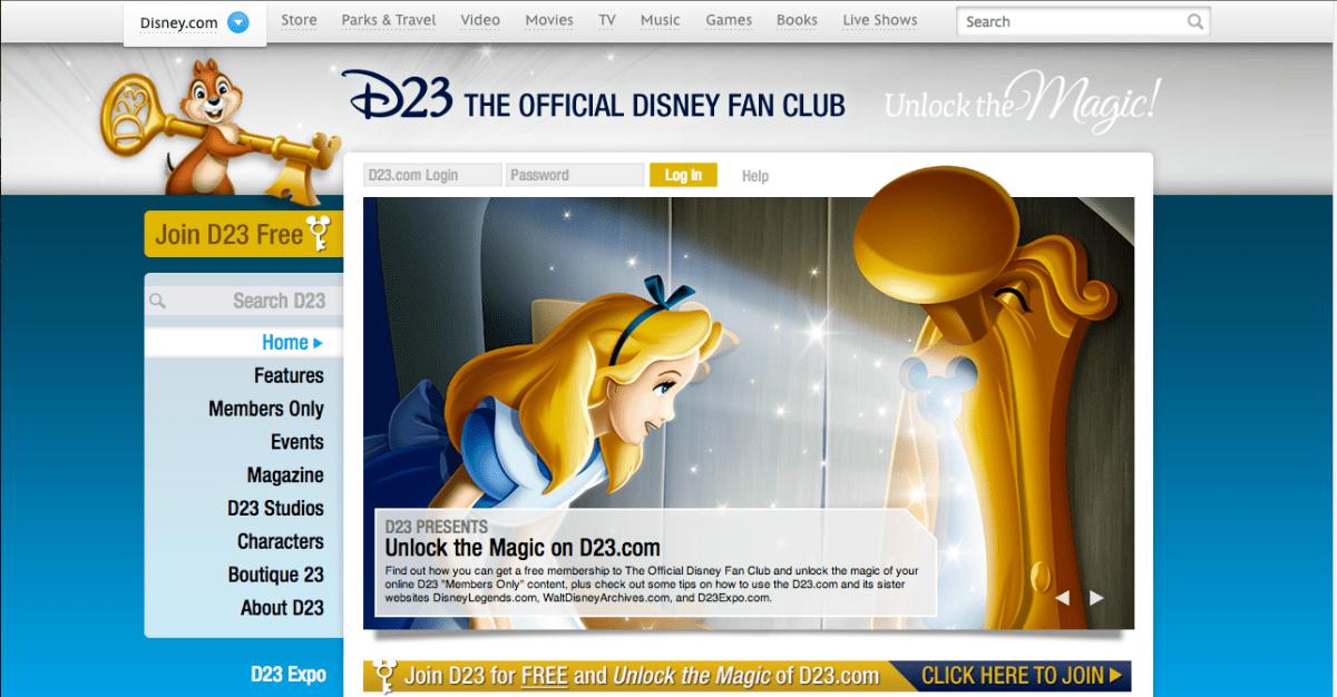 D23s New Website Disneyexaminer