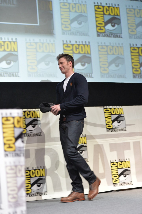 Chris Evans Disney Marvel Captain America 2 The Winter Soldier Comic Con 2013