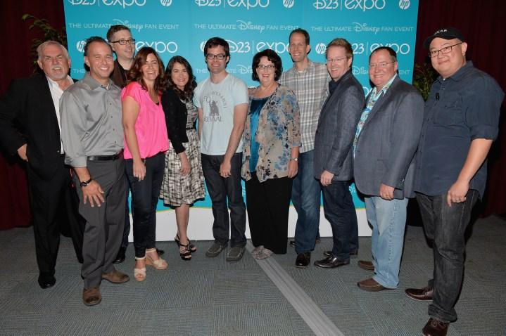 2013 D23 Expo Walt Disney Animation Studios Presentation Celebrity Group Shot