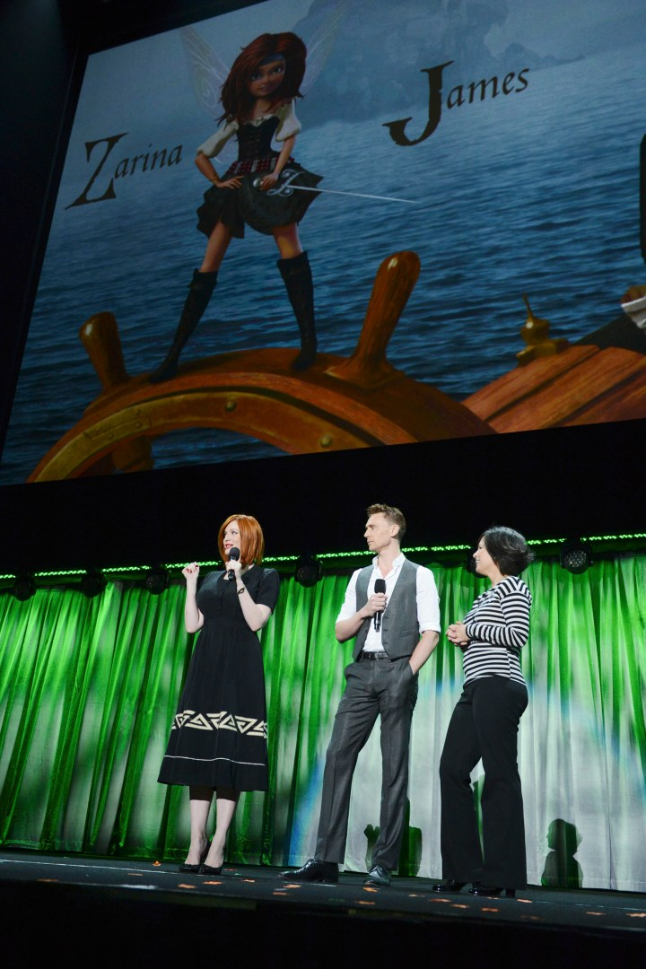 2013 D23 Expo Walt Disney Animation Studios Presentation Christina Hendricks Tom Hiddleston Peggy Holmes The Pirate Fairy