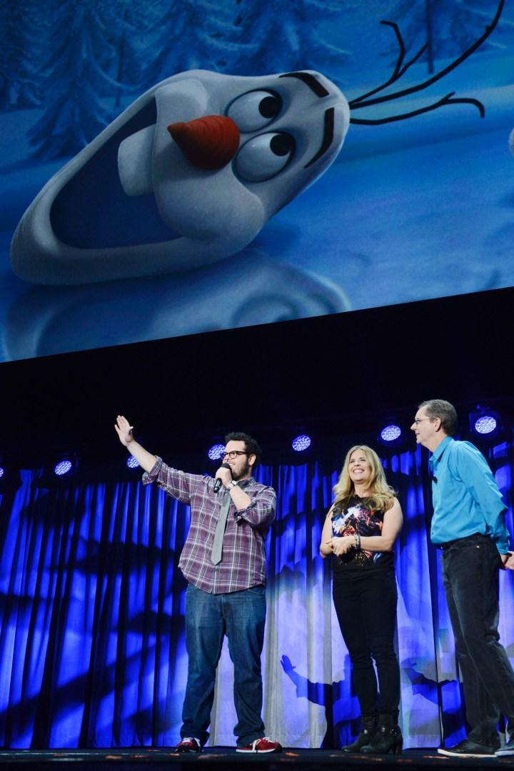 2013 D23 Expo Walt Disney Animation Studios Presentation Josh Gad Olaf Jennifer Lee Chris Buck Frozen