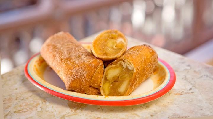 Disneyland Halloween Time Fall Food Fried Apple Burrito