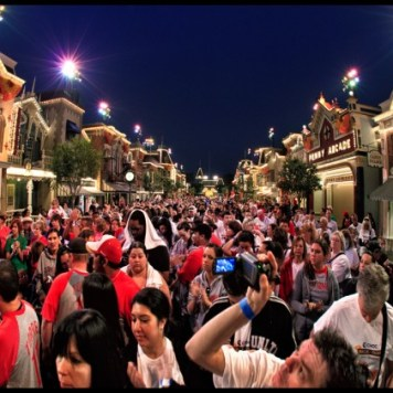 Disneyland Choc Walk Fisheye Photo