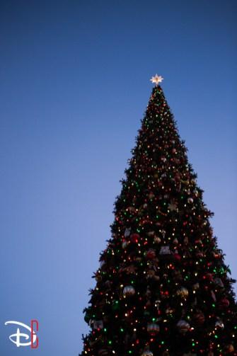 Disneyland Resort Holidays Press Event 2013 Main Street Usa Christmas Tree