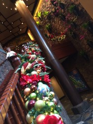Disney Aulani Resort And Spa Oahu Hawaii Christmas Holiday Decorations Garland Stairway