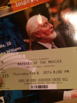 John Williams Maestro Of The Movies Pacific Symphony Concert Ticket And Program