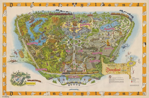 Disneyland Park Vintage Map Sam Mckim