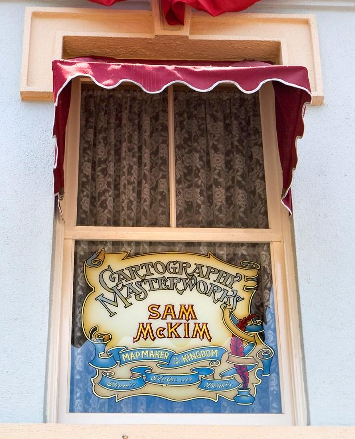 Sam Mckim Disney Legend Artist Map Maker Disneyland Main Street Usa Window