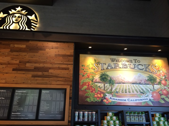 Starbucks Downtown Disney Disneyland Resort Welcome Entrance
