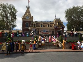 Then 59 of some long-lost and newer characters stepped out and listened to Walt's Opening Day Dedication. Haunting, to say the least.