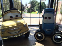 Disney Pixar Animation Studios Headquarters Disneyexaminer Tour Emeryville Luigi Guido Cars Luxo Jr Ball