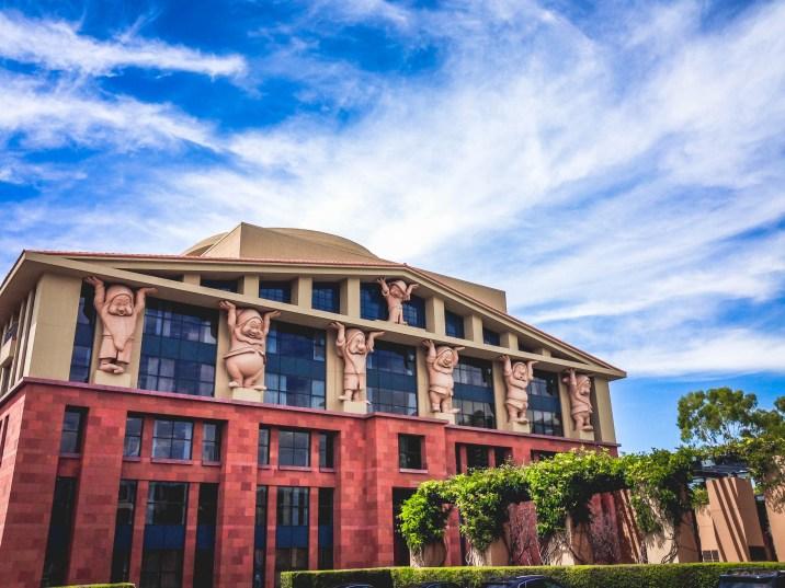 Team Disney Burbank Michael Eisner Executive Building Seven Dwarfs Walt Disney Studios Lot