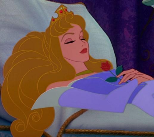 Sleeping Beauty asleep