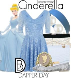 Cinderella Disneybound Outfit Dapper Day Style Guide Disneyexaminer